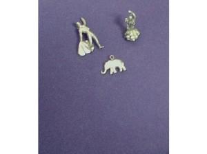 3 Vintage Solid Silver Charms & Pendants 3 Vintage Solid