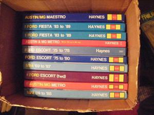 72 haynes car manuals + 5 other car manuals