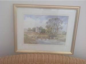 A local water colour by Ken Francis in Swindon
