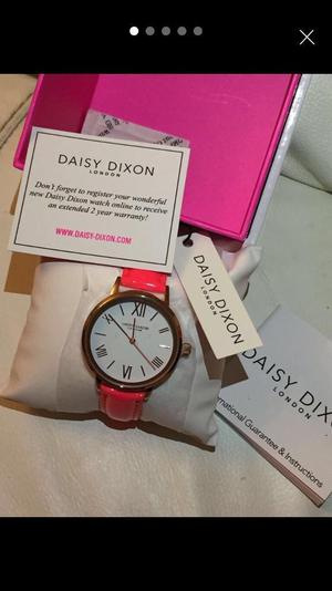 B/N Daisy and Dixon ladies wrist pink watch, with leaflet, in original box.