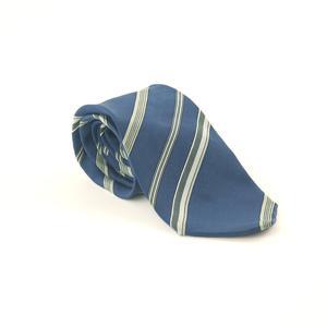 Brioni For Harrods 100% Silk Blue Vintage Design Wide Fit