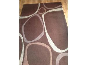 Brown and Beige Rug excellent condition in Leeds