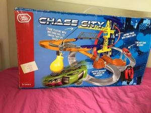 Chad Valley Chase City Playset Includes 2 Die-Cast Cars New