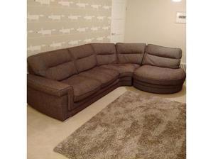 Corner Chaise Sofa, brown fabric in Sevenoaks