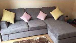 Grey Sofa with chaise 4 seater