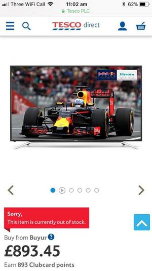 Hisense 65 inch 4K ultra hd smart tv. Excellent condition. HE65K55UWTS £560 NO OFFERS.CAN DELIVER