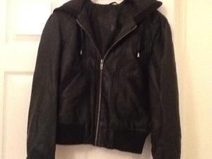 Ladies Bomber style black jacket