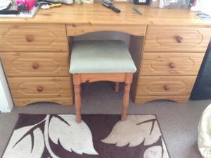 Pine look dressing table