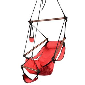 RED Swing Outdoor Hanging Hammock Swing Chair w/Pillow Carry