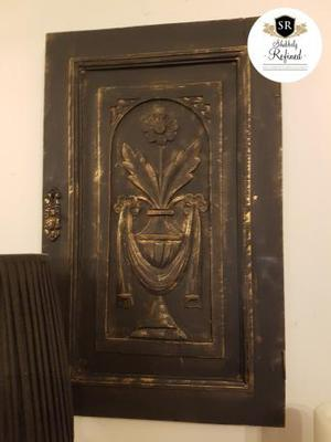 UPCYCLE VINTAGE CARVED DOOR PANEL. WALL ART