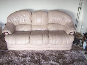 leather suite settee and chair