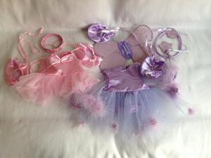 Build a bear - bear factory pink purple ballerina clothes