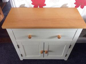 Cream wooden cabinet with top draw