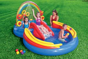 INTEX INFLATABLE RAINBOW POOL CHILD TODDLER KIDDIE WADDING