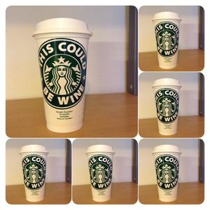 Reusable plastic Coffee cups Personalised