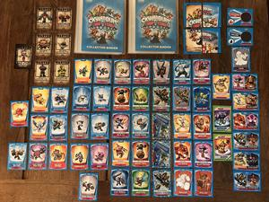 SKYLANDERS Trap Team 75 cards (2 limited edition) & binders