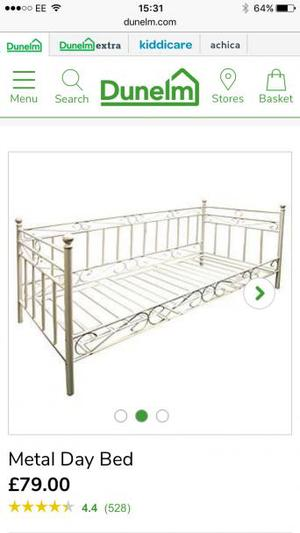 Cream Metal Day Bed