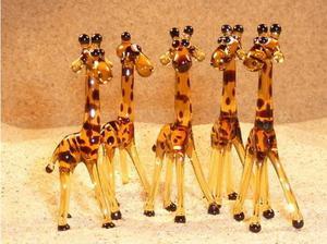 Glass animal - giraffe in Chelmsford in Chelmsford
