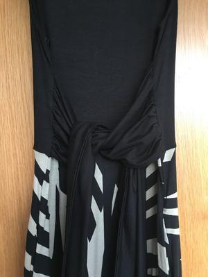 Hobbs Black and White Long Dress UK8