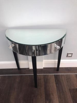 Reproduction Half Moon Console Table In A Posot Class