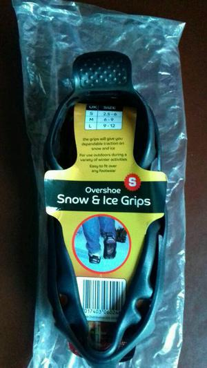 New Snow and ice shoe grips.