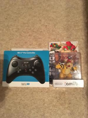 New Wii U Pro Controller + Bowser Amiibo