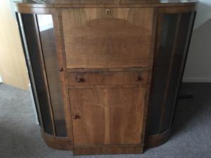 bureau and cabinet rosewood bureau with glass posot class. Black Bedroom Furniture Sets. Home Design Ideas