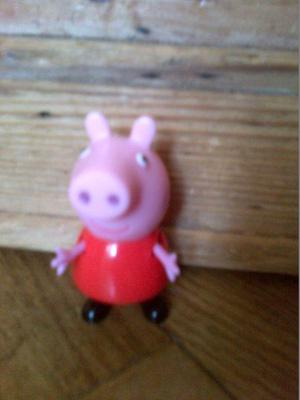 Peppa Pepper Pepa Pig toys figure character in a red dress