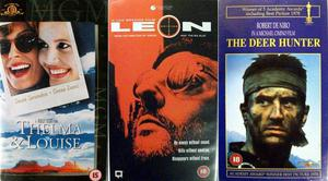 Three VHS films - Deerhunter, Leon, Thelma & Louise