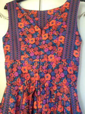 Vintage Style 50's Summer Dress By Foxy Lady Size 8