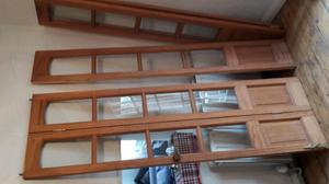 set of 5 matching glazed internal bi fold doors with hinges