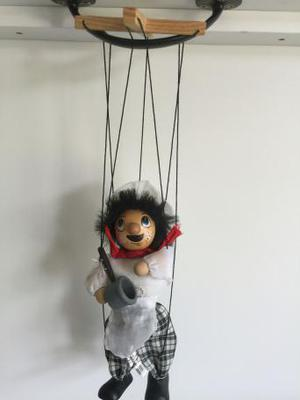 3 X wooden string puppets