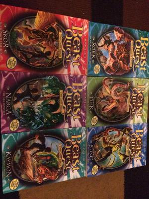 6 beast quest books £3