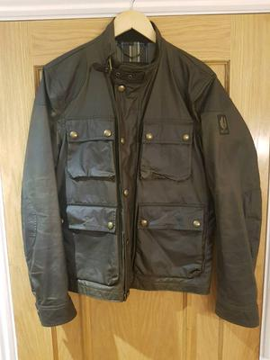 Belstaff vintage olive green bikers wax jacket