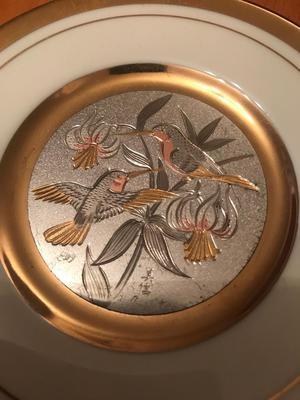 Chokin Art; 24k gold edged, limited edition dishes