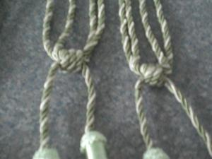 Curtain Tie Backs with tassels (Green and New)