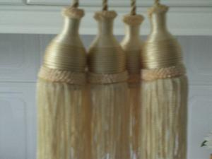 Curtain Tie Backs with tassels (New)