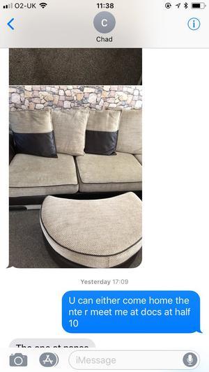 Dfs large corner settee