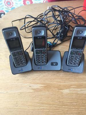 FOR SALE, 3 BT CORDLESS PHONES