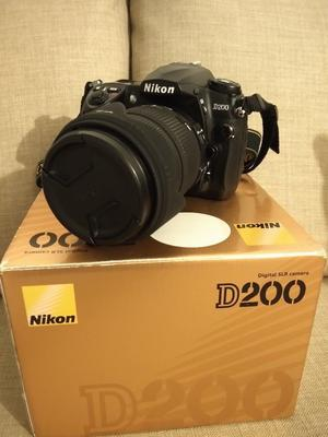 Nikon D200 with accessories