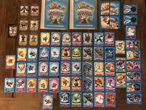 SKYLANDERS Trap Team 140 cards (2 limited edition) & binders