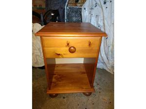 Solid Pine bedside table, antique pine colour in Reading