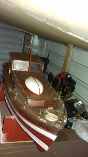 Vintage wood rc boat