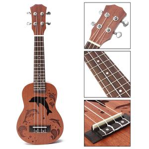 21'' Soprano Ukulele Uke Sapele 15 Frets Musical Instrument