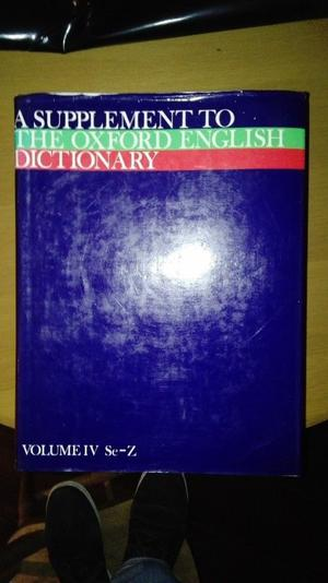 A Supplement to the Oxford English Dictionary