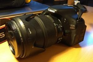 Canon EOS 600D + SIGMA mm  DC OS + accessories