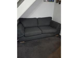 Dfs charcoal grey 3 seater sofa and matching chair in