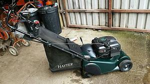 Hayter Harrier 41, rear roller, variable speed, key start mower.