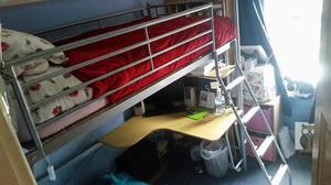 Metal High Sleeper With Desk And Ebbw Vale Posot Class