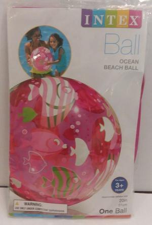 Intex Inflatable Beach Ball Pink Ocean Fish Swimming Pool